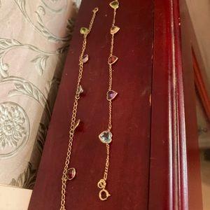 Estate Pair of gemstone bracelets 14k